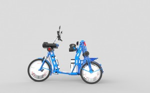 urban2 cargo bike electric folding vehicle by Johan Neerman