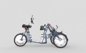 Xplorer fast folding electric cargo bike by Johan Neerman