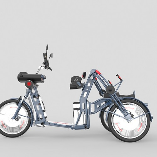 Xplorer fast folding electric cargo bike by Johan Neerman