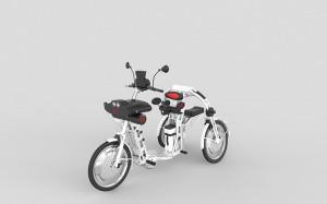 Folding electric bike urban2 white