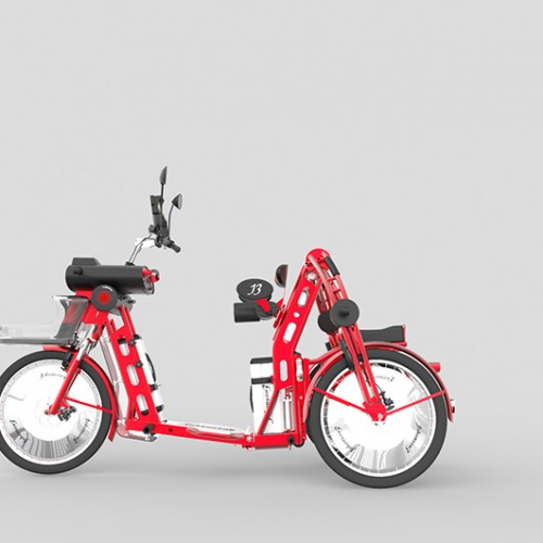 urban2 electric folding cargo bike by Johan Neerman