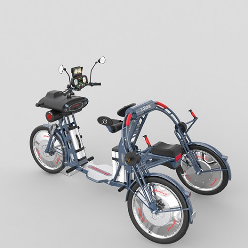 X-plorer folding fast electric cargo bike