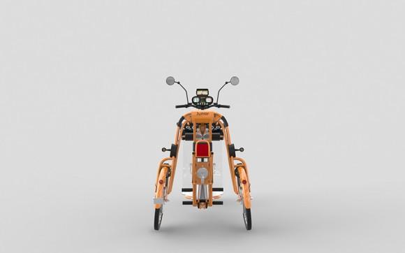 junior electric folding cargo bike by Johan Neerman