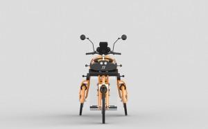 junior kids electric folding cargo bike