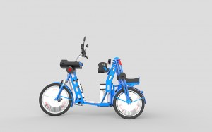 urban2+ folding electric commuter cargo bike by Johan Neerman