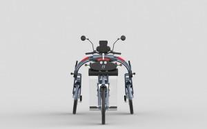 electric folding commuter cargo bike johanson3