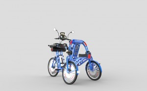 urban2+ blue electric folding cargo bike by johanson3